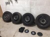 T5 vw transporter wheels x4