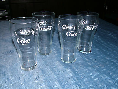 VINTAGE 1960S 4 ENJOY COCA COLA SODA GLASSES