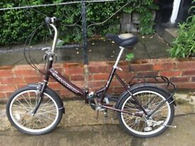 Schwinn folding bike with gel seat