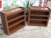 (2) Mahogany Units - Adjustable Shelves - Vgc.