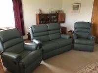 Sherborne 3 piece leather suite