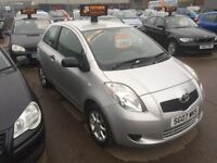 Toyota Yaris comes with full mot and 3 months warranty