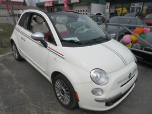 2012 Fiat 500 Lounge (Convertible, Automatic, Heated seats)