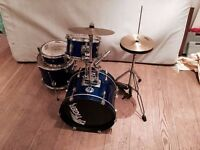 Tiger 6-piece Junior Drum Kit Blue Sparkle