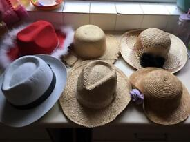 SELECTION OF HATS FANCY DRESS HALLOWEEN £1 EACH OR £5 FOR ALL 6