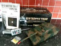 Remote controlled battle tank *for repair*