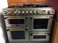 Professional gas range cooker