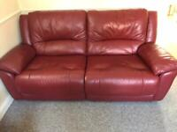 3 seater reclining sofa and reclining chair