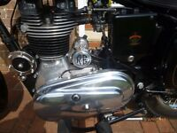 "ROYAL ENFIELD BULLET 350, 2007, 5,000 MILES, NEW MOT, ""R.E"" SCREEN & PANNIERS, SUPERB EXAMPLE"
