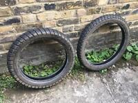 Bridgestone Trail Wing dual sport tyres 18 and 21 inch DRZ400