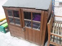 Chestnut wooden play house