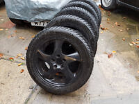 Volvo 850/early V70 snow tyres on alloy wheels