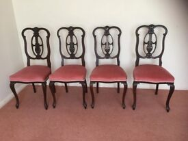 4 beautiful regency style dining chairs