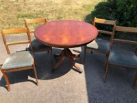 Walnut Style Dining Table & 4 Chairs