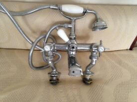 Beaumont bath/shower mixer taps brass - traditional, antique, vintage victorian