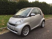 2012 SMART FORTWO 1.0 MHD CONVERTIBLE PASSION 26K PETROL AUTO 12M M.O.T FSH LADY OWNER AA COMP COVER