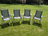 Patio chairs x 4 - folding, lightweight, grey, like new and comfortable
