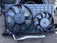 2006 VW GOLF MK5 1.6 FSI Autamatic GEAR PETROL RADIATOR WITH FAN