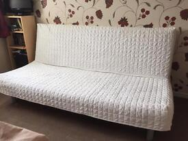 IKEA Cream Beddinge Three-Seat Sofa Bed in Superb Condition with Storage Box