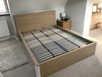 King size bed frame. Ikea Malm in excellent condition