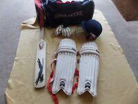 cricket padds gloves bag ect