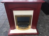ELECTRIC FIRE WITH SURROUND IN GOOD WORKING ORDER