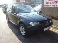 BMW X3 D SE,turbo diesel 5 door hatchback,6 speed,FSH,full leather interior,very clean tidy Jeep