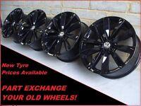 "1659 Genuine 19"" VW Lugano Golf Jetta Scirocco Passat CC EOS Black Alloy Wheels"