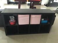 Black IKEA Shelving Unit