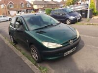 Diesel, Peugeot 206 style HDI for sale, long MOT, drives perfect.