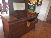 Louis Philippe Linen chest of drawers/ dressing table