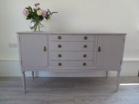 1950s SIDE BOARD FOR SALE- painted in Annie Sloan chalk paint 'paloma'