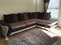 DFS Dare Corner Sofa, Large Swivel Cuddle Sofa and Footstool Set