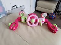 Pink pram car toy from elc