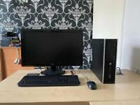 """Hp Elite 8300 SFF intel i5 8gb ram 500gb hdd Aoc 24"""" HD monitor full system"""