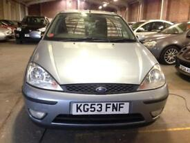 2003 (Oct 53) FORD FOCUS 1.6i ZETEC 16V - Hatchback 5 Doors - Petrol - Maunal - BLUE *MOT/PX WELCOME