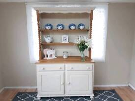 Stunning Welsh dresser solid pine cream