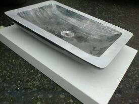 Stone Countertop Basin with Stone Countertop