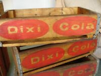 Wooden Crates, Genuine old dated DIXI COLA