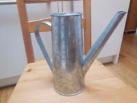Galnavised watering can - perfect for a vase for flowers, wedding decor, shabby chic