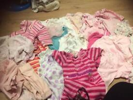 Cute bundle of 0-3 months baby girls clothes