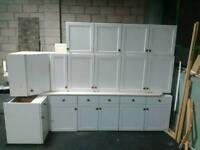 white kitchen cabinet/cupboard units