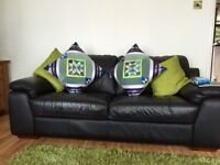 Black leather 2 seater BARGAIN! Excellent condition