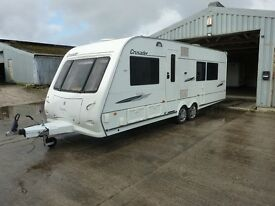 Elddis Crusader Fixed Island Bed Touring Caravan & FREE Starter Pack