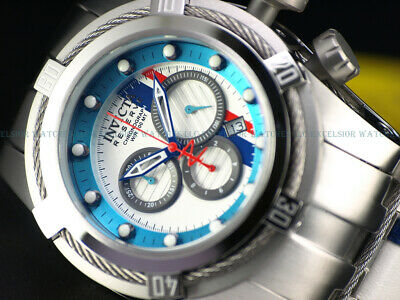 NEW Invicta Reserve Mens 52mm Bolt Zeus S1 Racer Swiss Chronograph Leather Watch