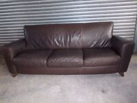 Genuine Natuzzi Italian Full Leather 3-2-1 Suite (Sofa) with matching Footstool