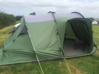 Tent 4 person Outwell 2 room, as new used 4 weeks, plus camping extras
