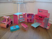 BARBIE DREAM CAMPER VAN / CAR / DOLL / ACCESSORIES - VGC