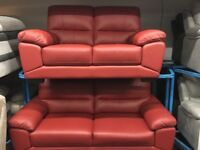 NEW/EX DISPLAY ScS VIXION GENUINE LEATHER 3 + 2 SEATER SOFAS, SUITE, SETTES 70% Off RRP