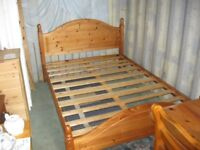 MODERN SOLID PINE SLATTED DOUBLE BED. DISMANTLES. VIEWING / DELIVERY AVAILABLE